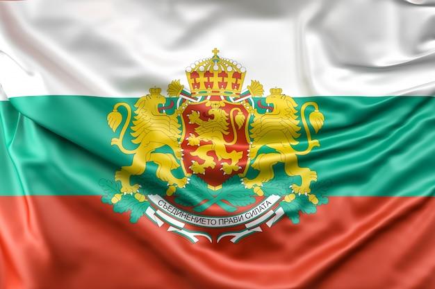 Bandeira da bulgária com brasão de armas