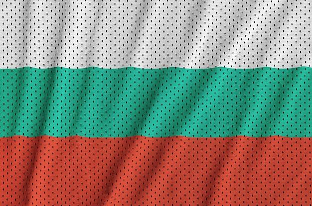 Bandeira da bulgária impressa em um tecido de malha de nylon sportswear de poliéster