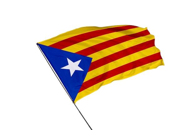 Bandeira da catalunha em um fundo branco