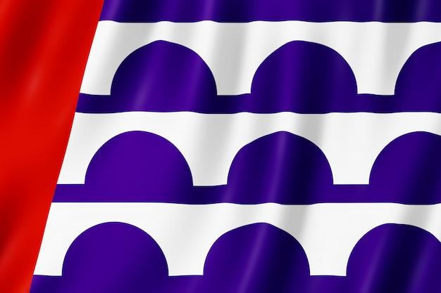 Bandeira da cidade de des moines, iowa (eua)