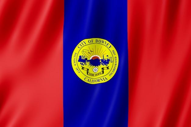 Bandeira da cidade de downey, califórnia (eua)