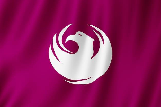 Bandeira da cidade de phoenix, arizona (eua)