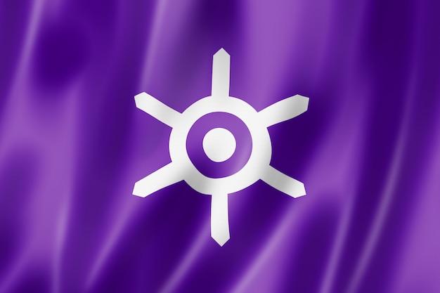 Bandeira da cidade de tóquio, japão