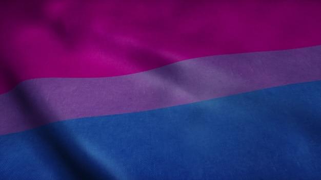 Bandeira da comunidade do orgulho bissexual.