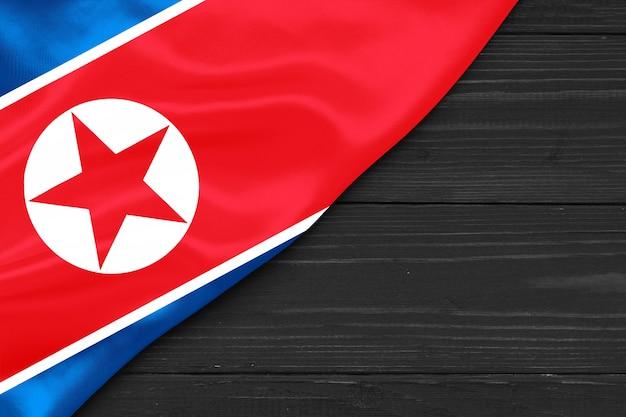 Bandeira da coreia do norte cópia espaço