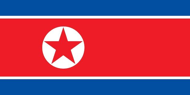 Bandeira da coreia do norte