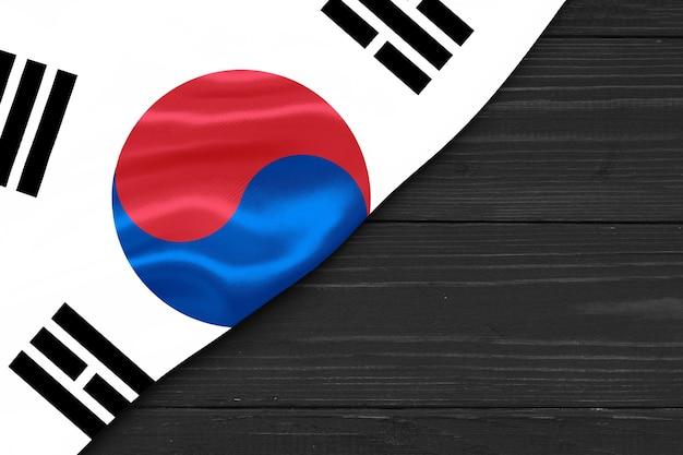 Bandeira da coreia do sul cópia espaço