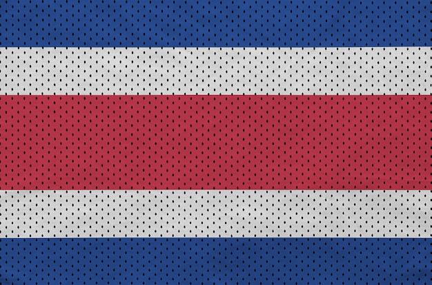Bandeira da costa rica impressa em um tecido de malha de nylon sportswear de poliéster