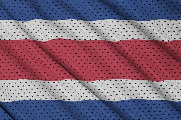 Bandeira da costa rica impressa em uma malha de nylon e poliéster