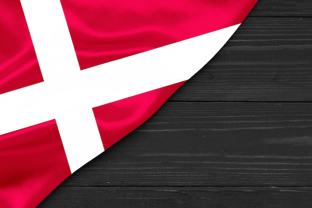 Bandeira da dinamarca cópia espaço