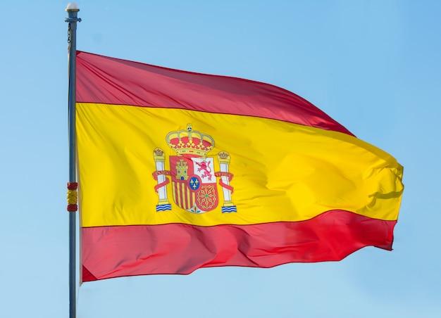Bandeira da espanha. a bandeira espanhola o símbolo da espanha.