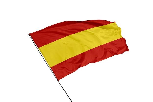 Bandeira da espanha em um fundo branco