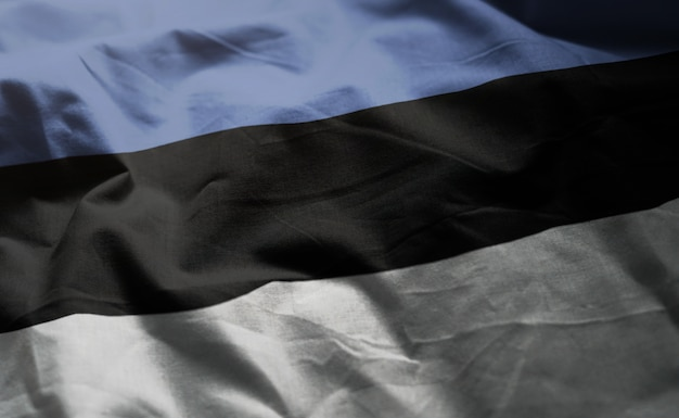 Bandeira da estónia amarrotada close up