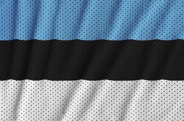 Bandeira da estônia impressa em uma malha de nylon poliéster