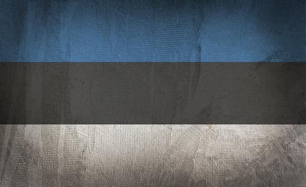 Bandeira da estônia no fundo escuro textura