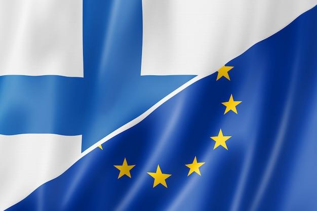 Bandeira da finlândia e da europa