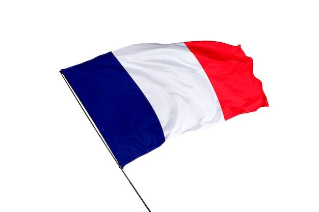 Bandeira da frança em um fundo branco