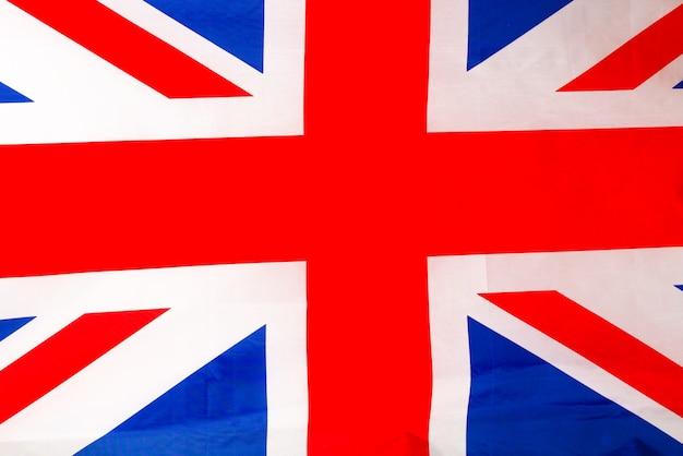 Bandeira da grã-bretanha como pano de fundo. vista do topo.
