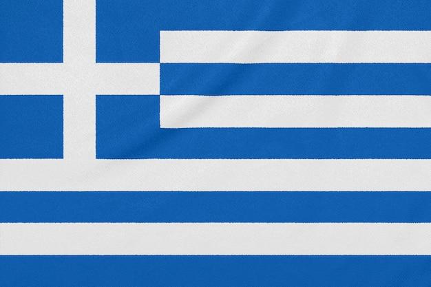 Bandeira da grécia em tecido texturizado, símbolo patriótico