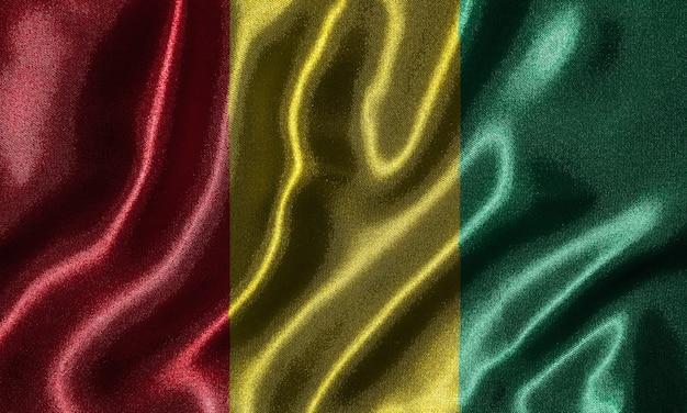 Bandeira da guiné - bandeira de tecido do país da guiné, fundo da bandeira por têxteis.