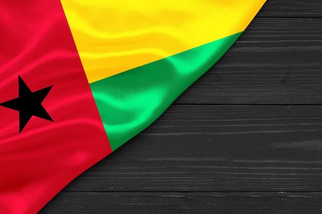 Bandeira da guiné-bissau cópia espaço
