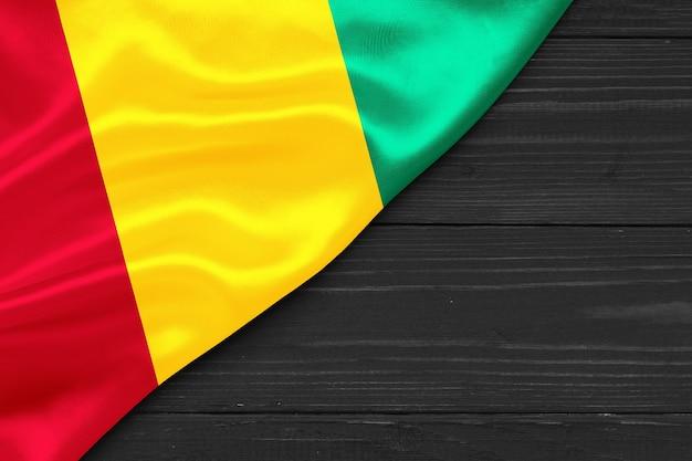 Bandeira da guiné cópia espaço