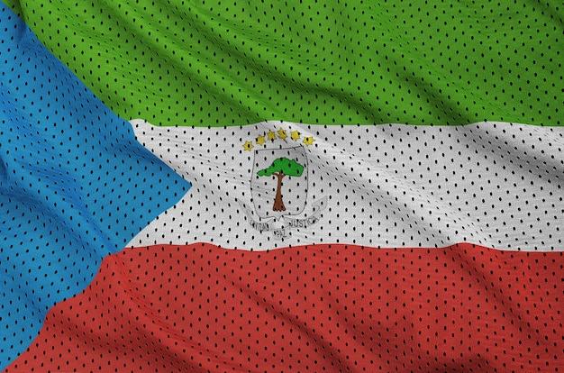 Bandeira da guiné equatorial impressa em um sportswear de nylon poliéster