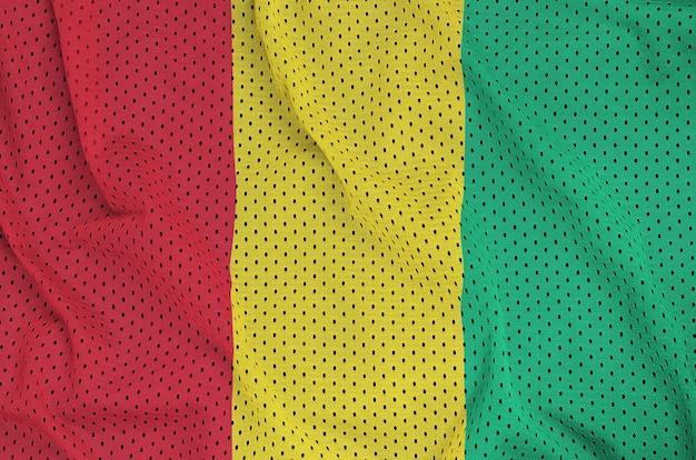 Bandeira da guiné impressa em um tecido de malha de nylon sportswear de poliéster
