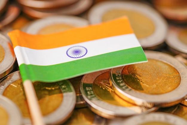 Bandeira da índia em moedas