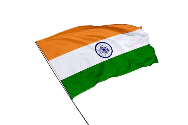 Bandeira da índia em um fundo branco