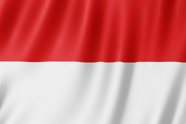 Bandeira da indonésia balançando ao vento.