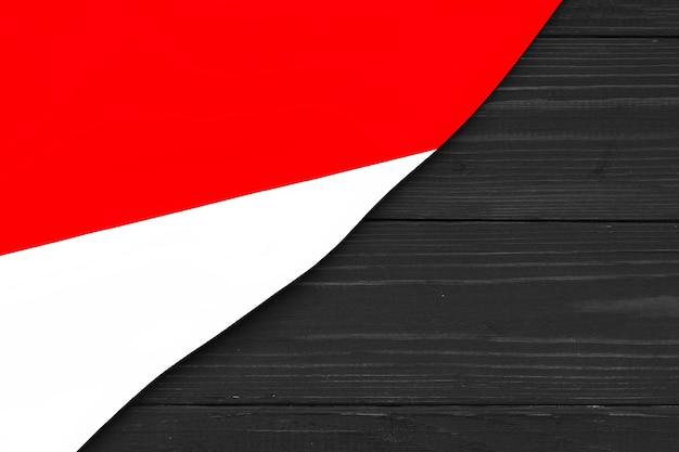 Bandeira da indonésia cópia espaço