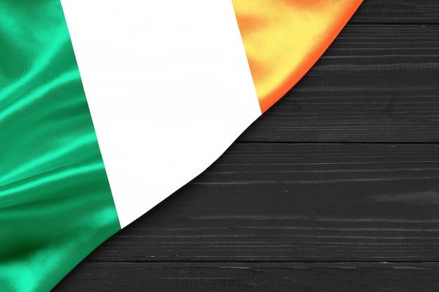 Bandeira da irlanda cópia espaço