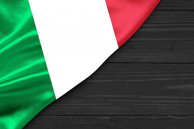 Bandeira da itália cópia espaço