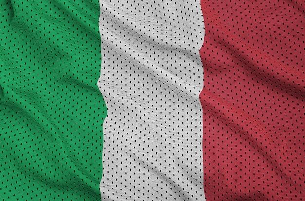 Bandeira da itália impressa em poliéster