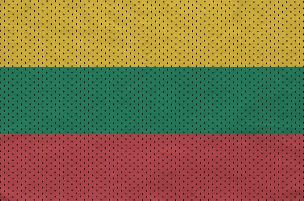 Bandeira da lituânia impressa em um tecido de malha de nylon sportswear de poliéster
