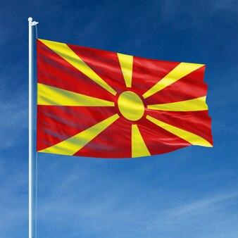 Bandeira da macedónia a voar