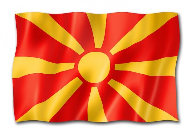 Bandeira da macedônia isolada