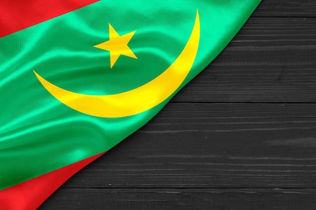 Bandeira da mauritânia cópia espaço