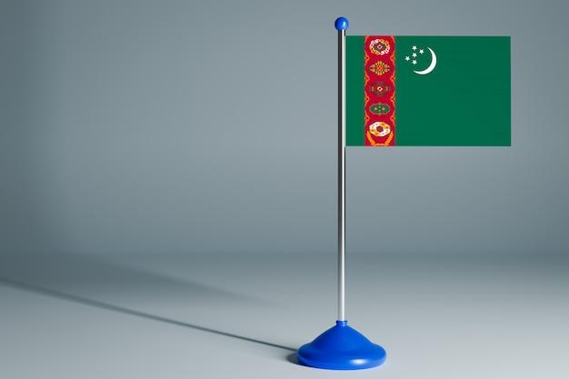 Bandeira da mesa em branco