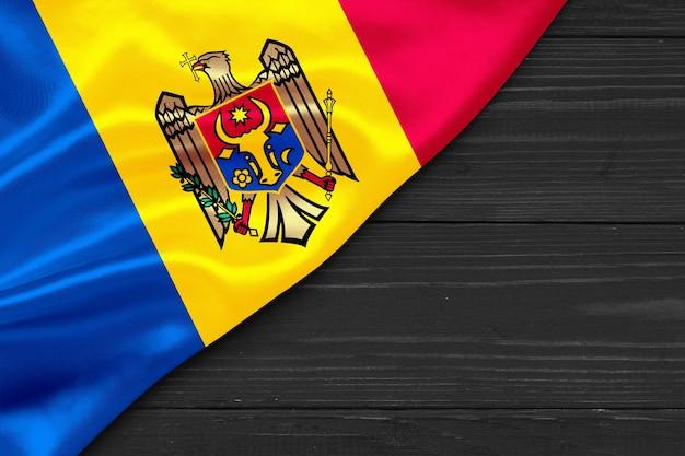 Bandeira da moldávia cópia espaço