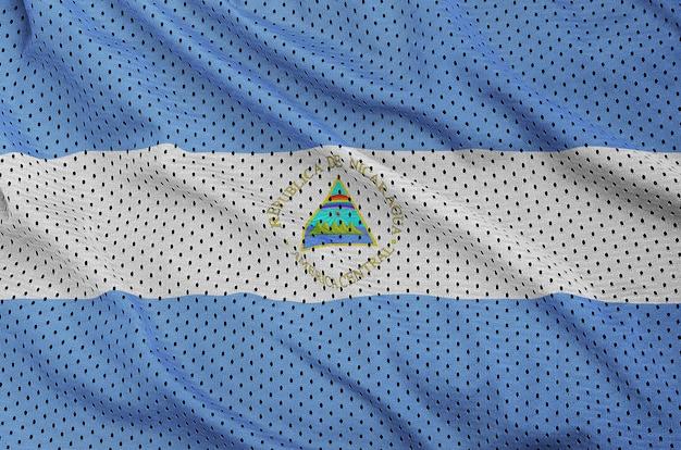 Bandeira da nicarágua impressa em uma malha de nylon sportswear de poliéster