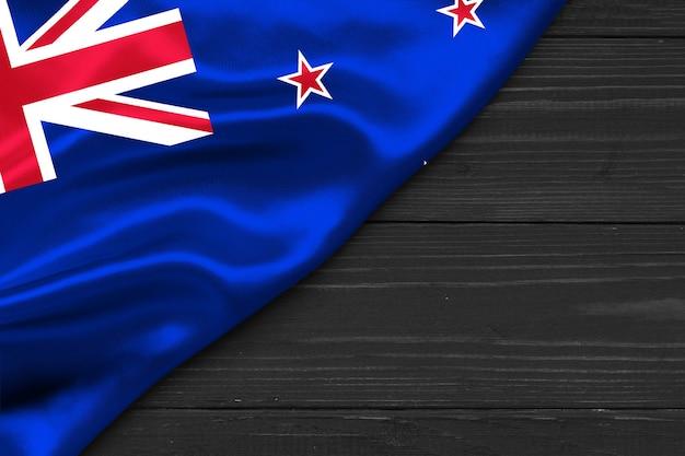 Bandeira da nova zelândia cópia espaço