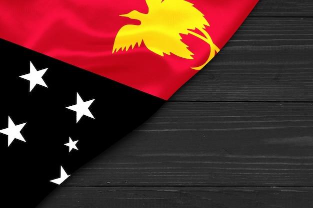 Bandeira da papua nova guiné cópia espaço