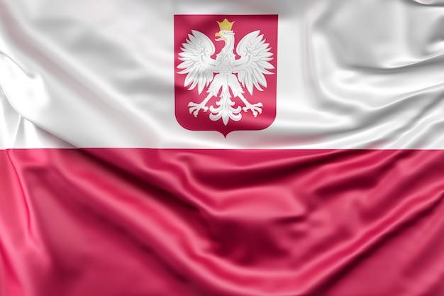 Bandeira da polônia com brasão