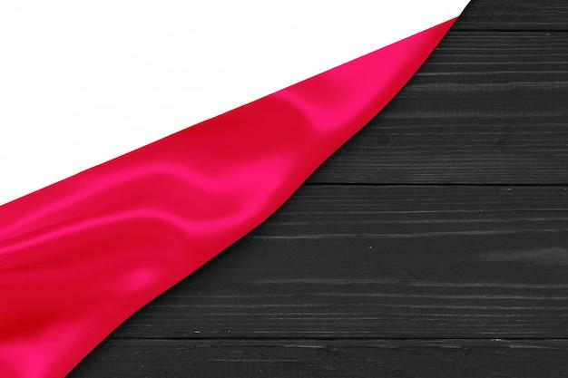 Bandeira da polónia cópia espaço