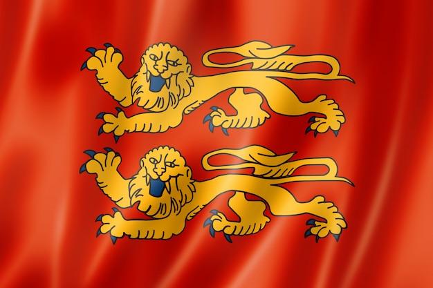 Bandeira da região da normandia, frança