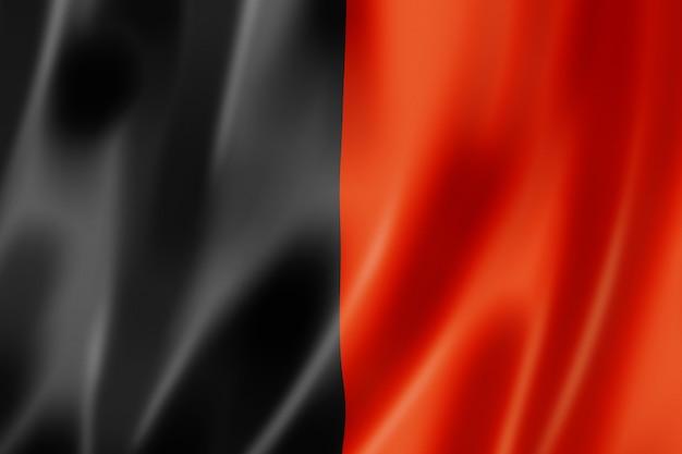 Bandeira da região do vale de aosta, itália, acenando a coleção de banners. ilustração 3d