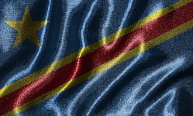 Bandeira da república democrática do congo-tecido bandeira do país do congo.