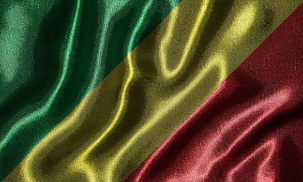 Bandeira da república do congo-tecido bandeira do país congo, antecedentes da bandeira de ondulação.